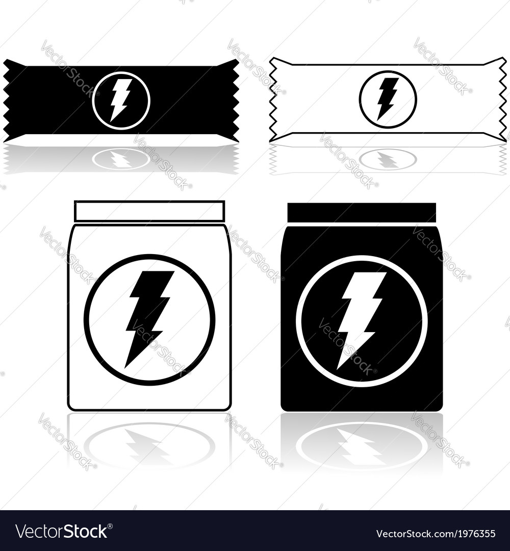 Energy bars and supplements vector | Price: 1 Credit (USD $1)