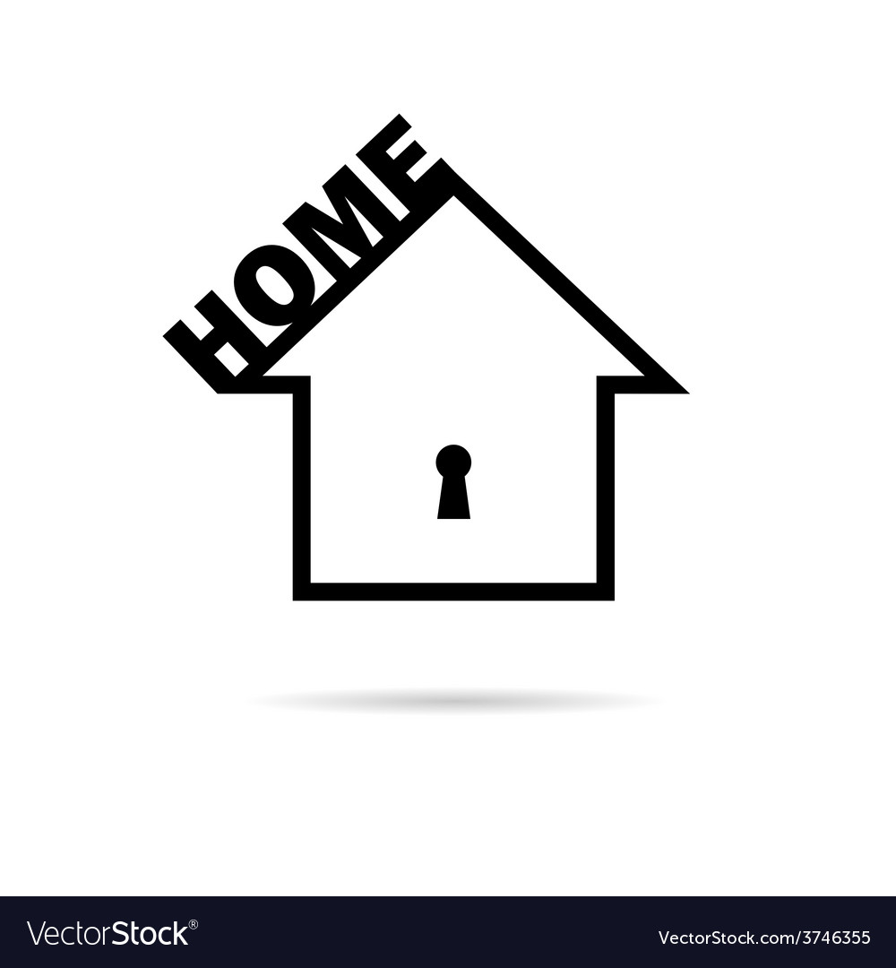 Home black and white vector | Price: 1 Credit (USD $1)