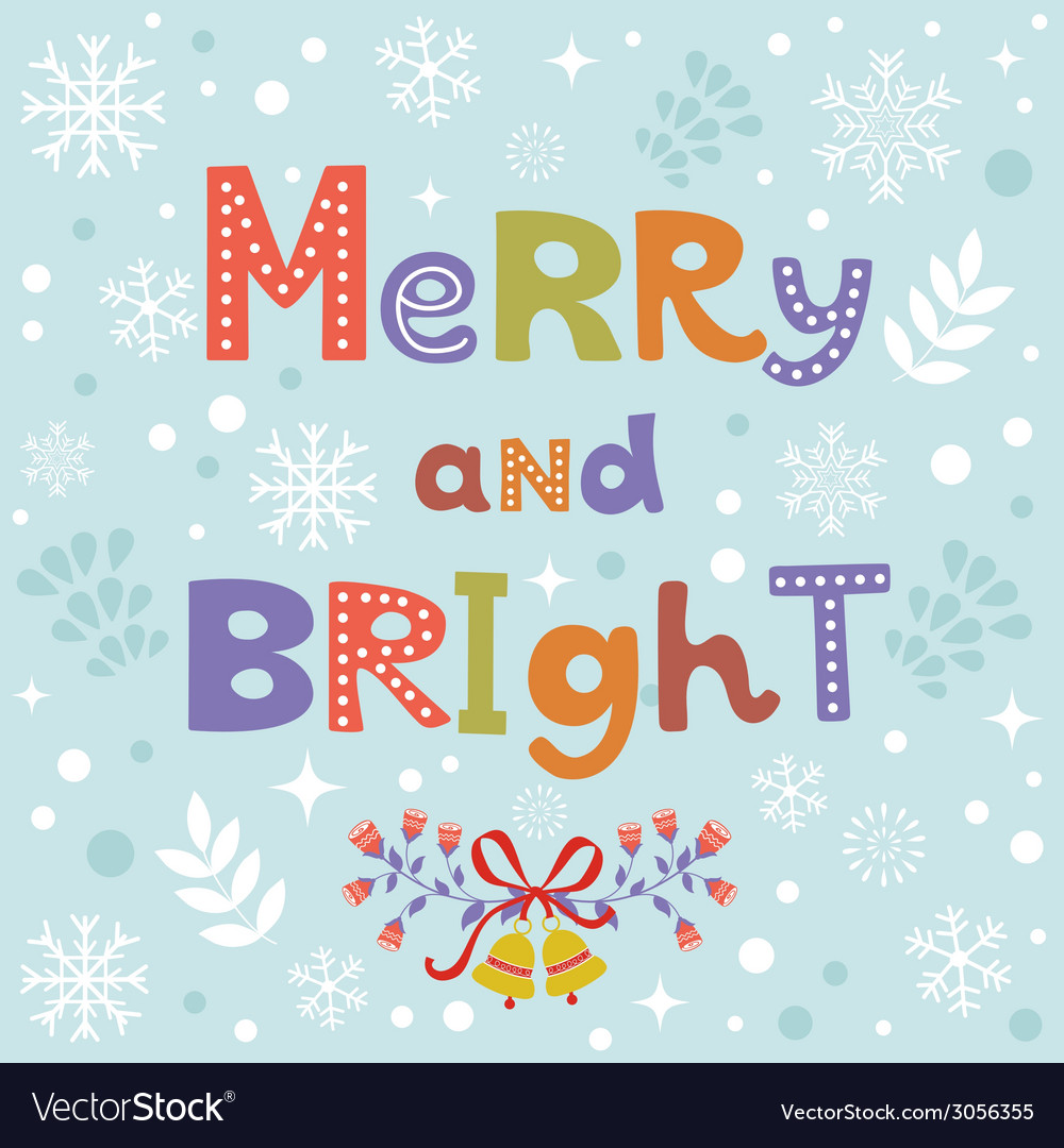 Merry and bright vector | Price: 1 Credit (USD $1)