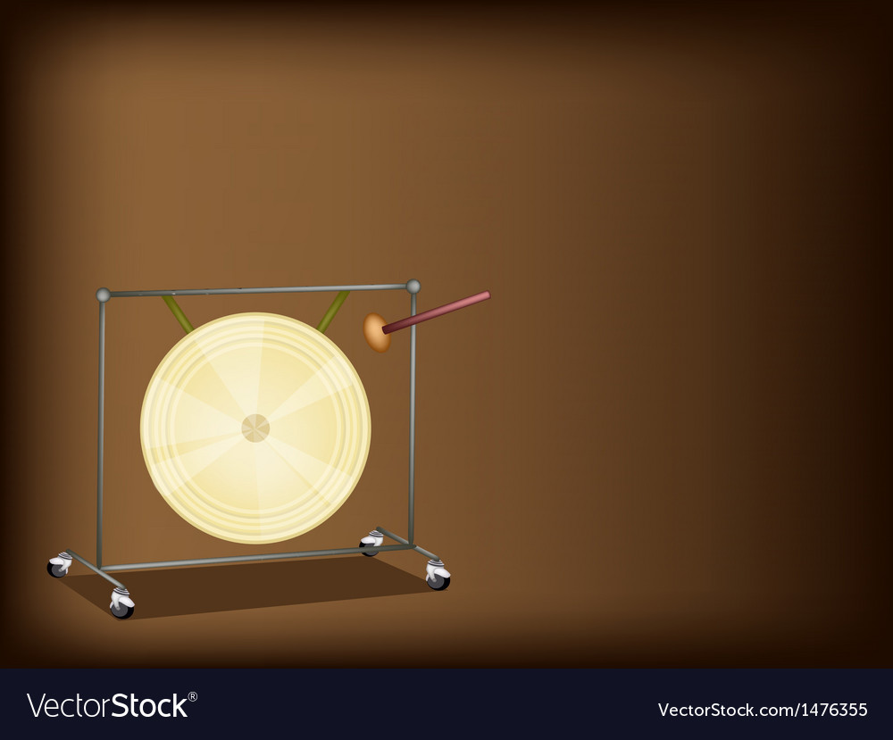 Musical gong brown background vector | Price: 1 Credit (USD $1)