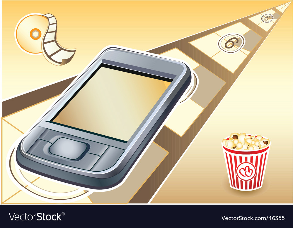 Pda  movies device vector | Price: 1 Credit (USD $1)
