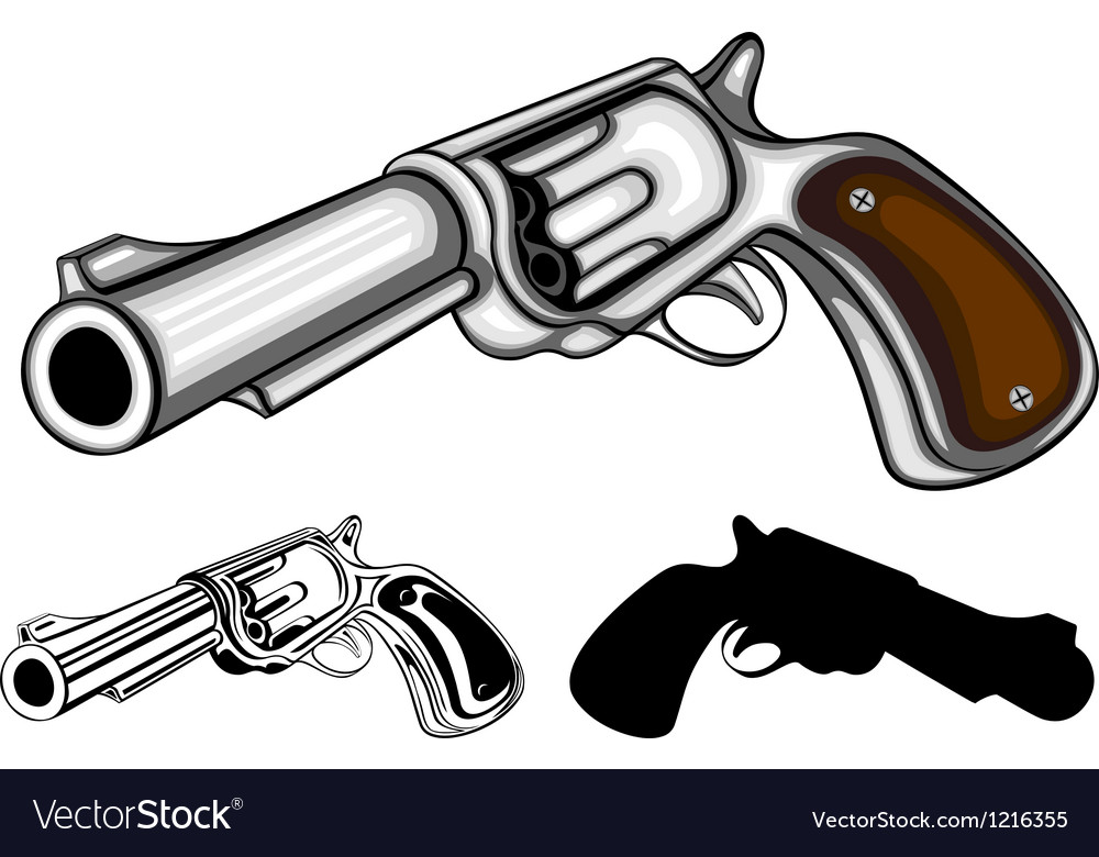 Revolvers set vector | Price: 1 Credit (USD $1)