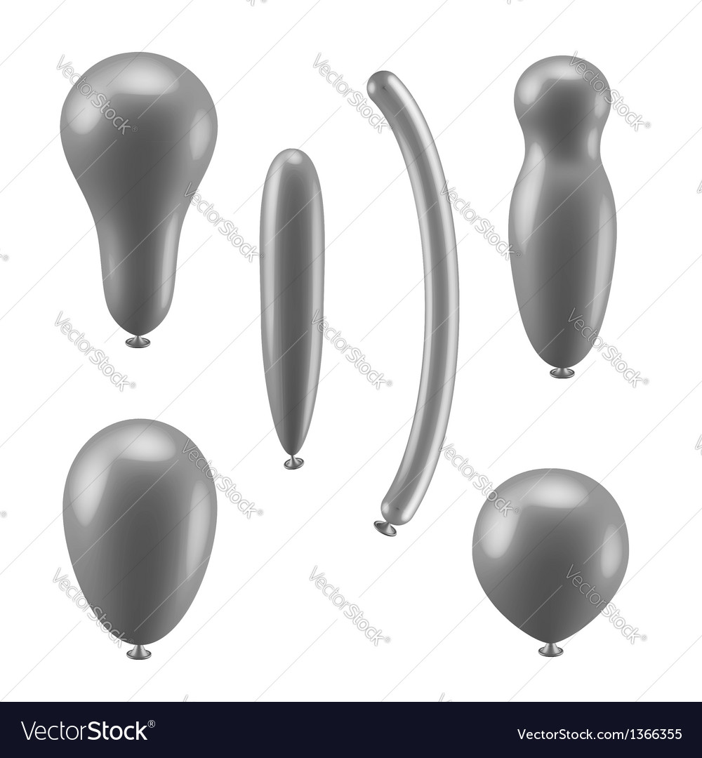 Set of different types of balloons vector | Price:  Credit (USD $)
