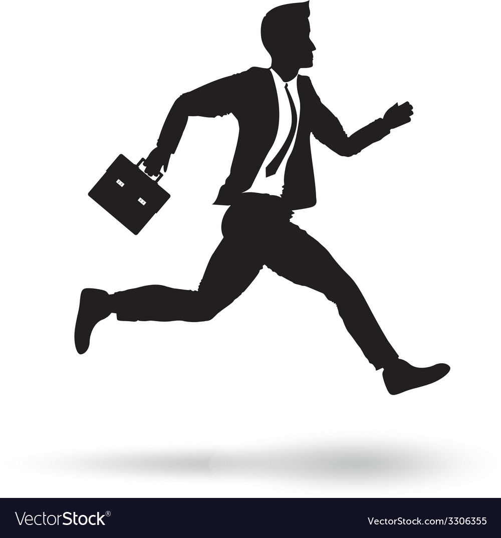 Side business runner vector | Price: 1 Credit (USD $1)