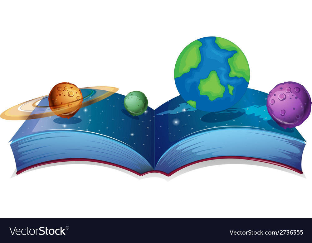 Solar system book vector | Price: 1 Credit (USD $1)