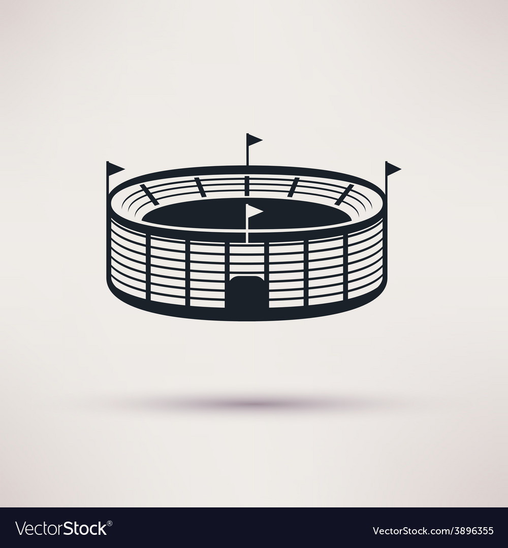 Sports stadium icons in a flat style vector | Price: 1 Credit (USD $1)