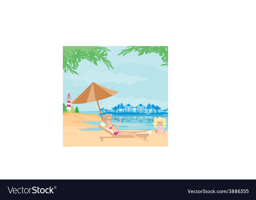 Vacation in the tropics vector | Price: 1 Credit (USD $1)