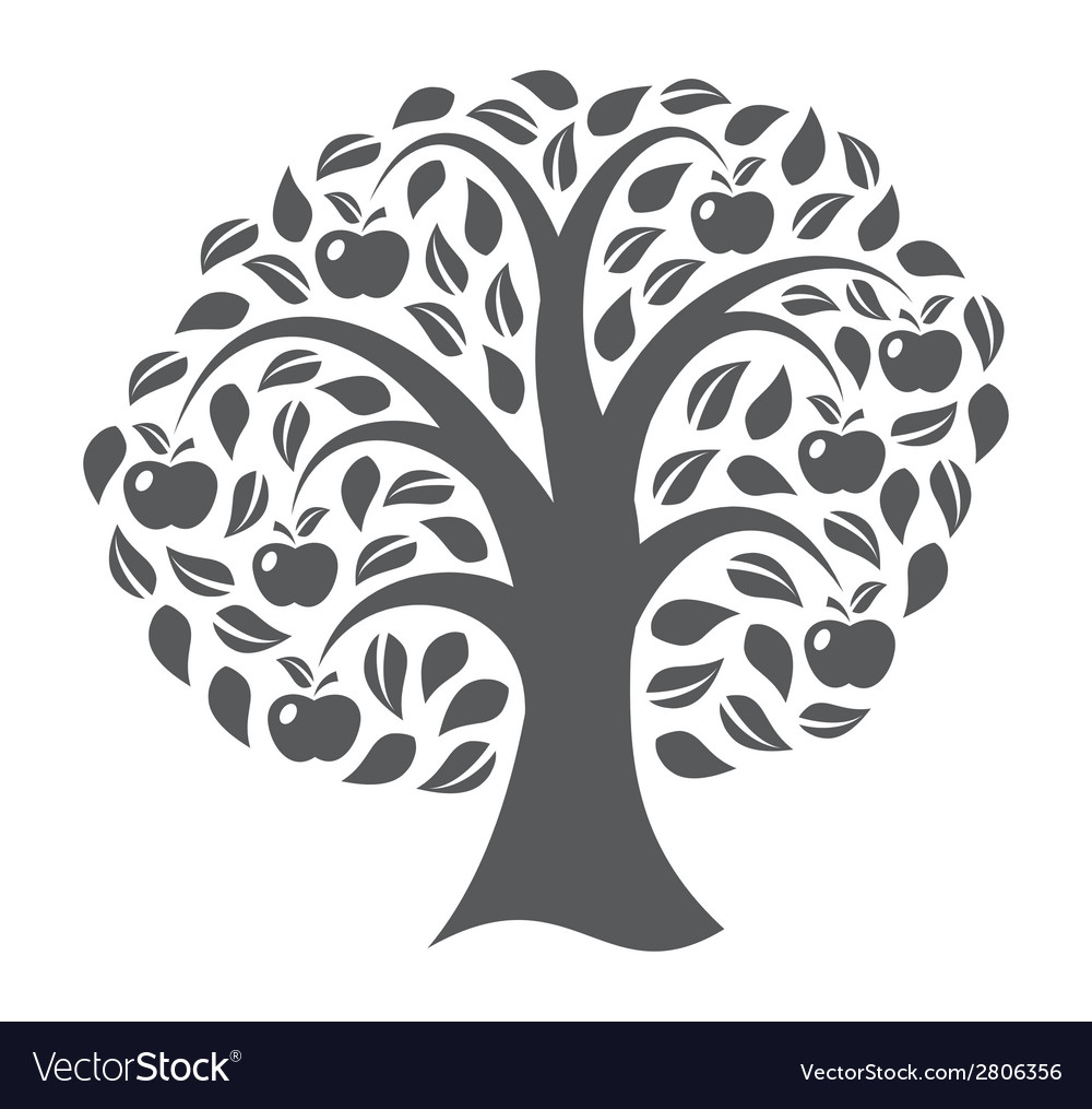 Apple tree vector | Price: 1 Credit (USD $1)
