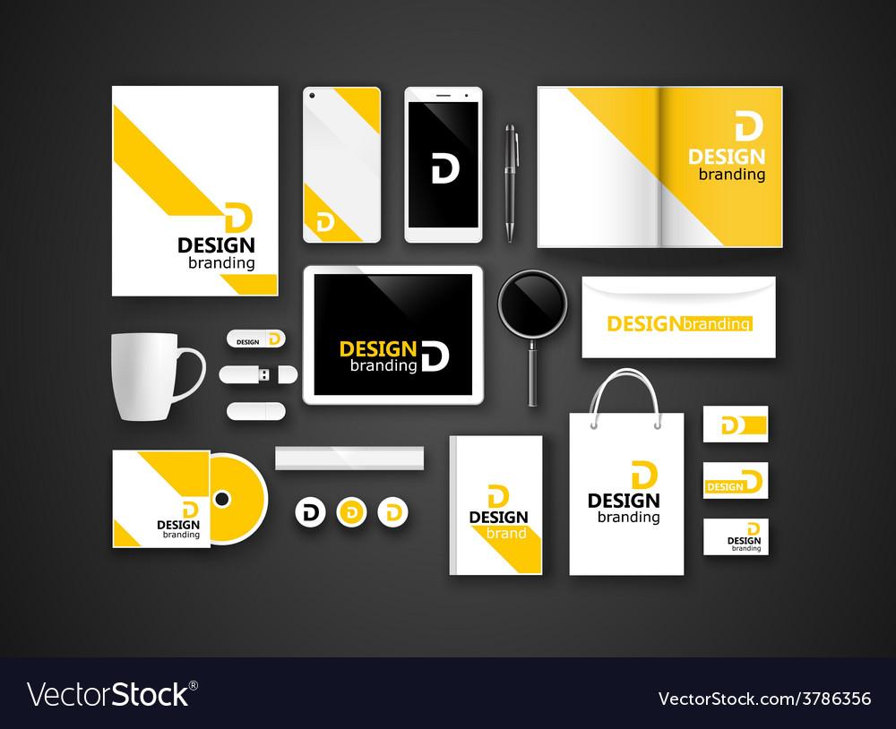 Black branding mockup vector | Price: 1 Credit (USD $1)