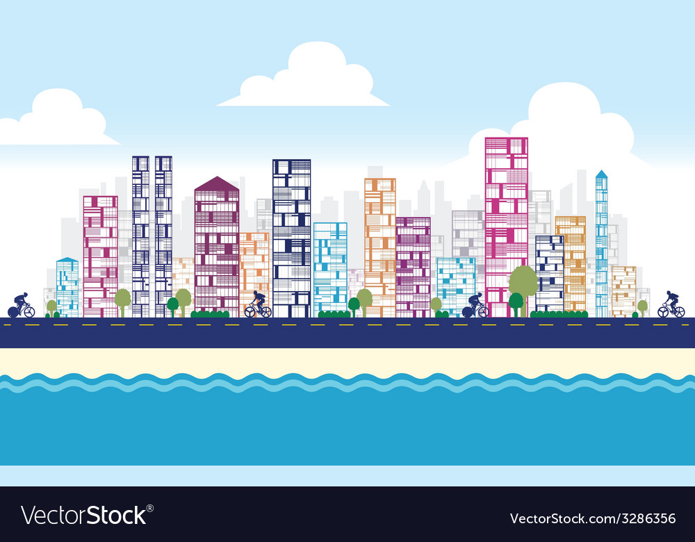 Building and city vector | Price: 1 Credit (USD $1)