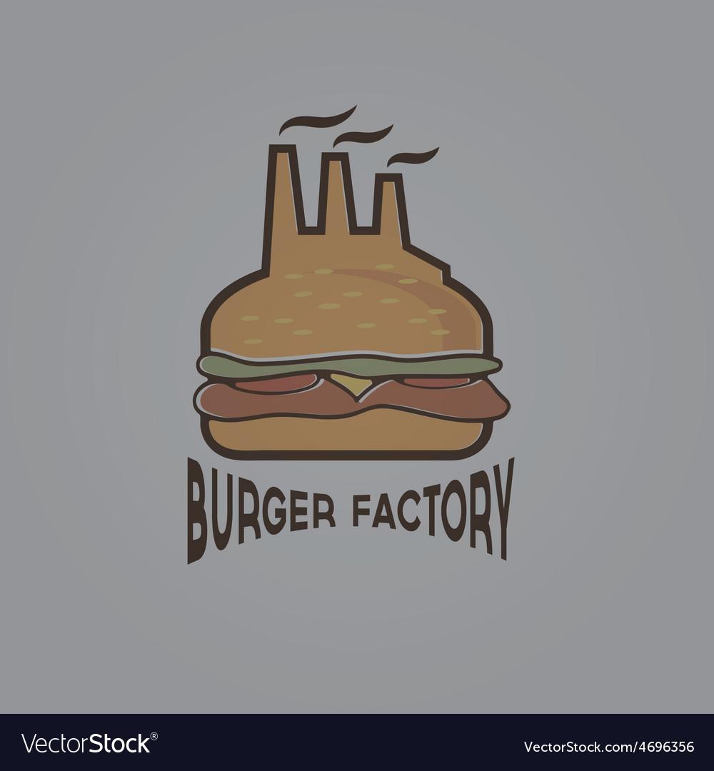Burger factory vector | Price: 1 Credit (USD $1)