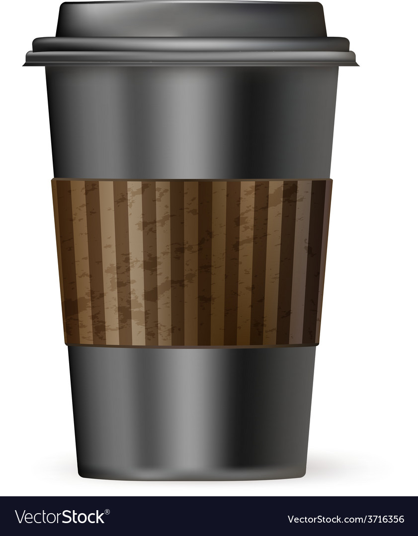 Coffee cup to go black vector | Price: 1 Credit (USD $1)
