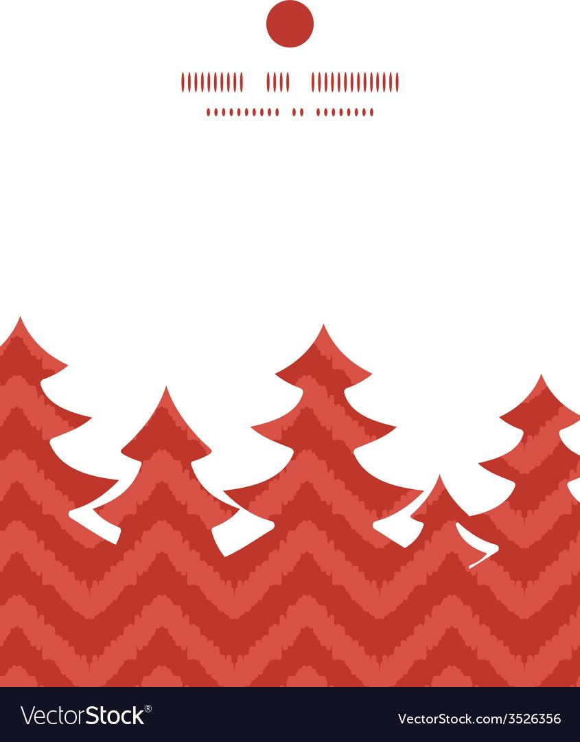 Colorful ikat chevron christmas tree silhouette vector | Price: 1 Credit (USD $1)