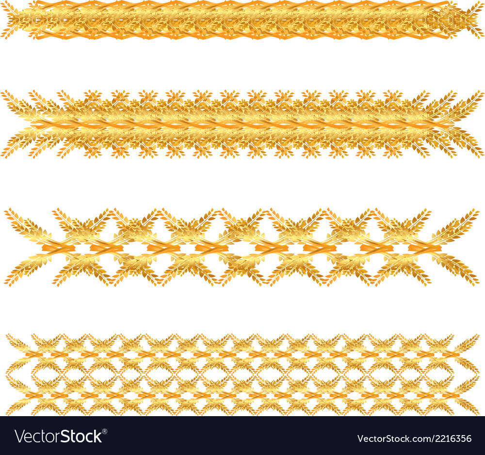 Gold floral border vector | Price: 1 Credit (USD $1)