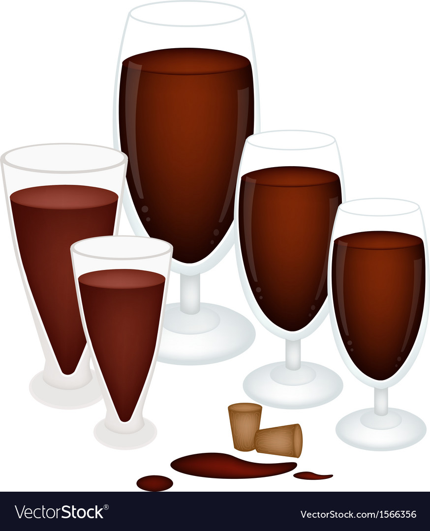 Grape juice in glass with wine cork vector | Price: 1 Credit (USD $1)