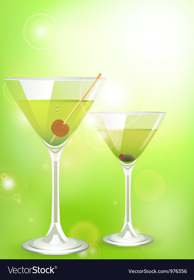 Martini cocktail background vector