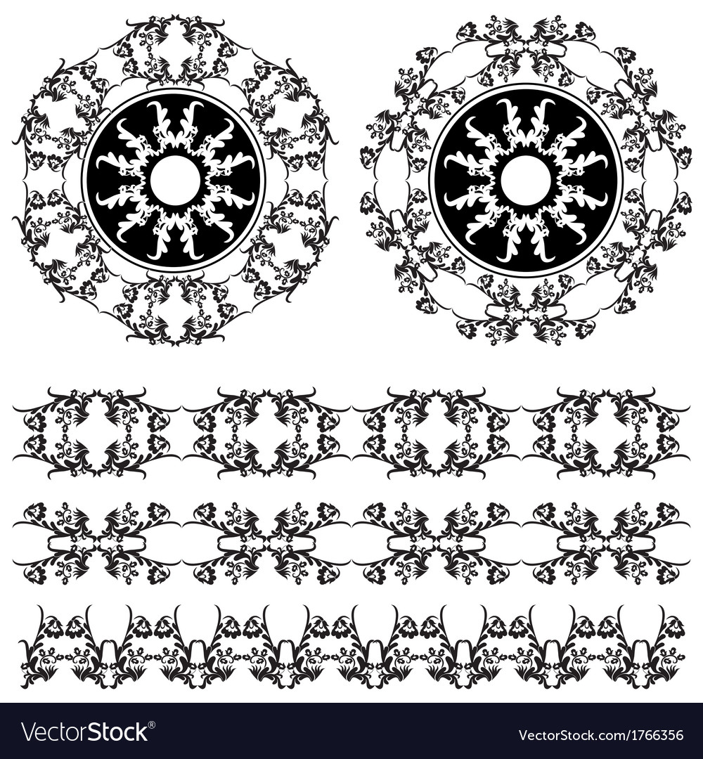 Oriental border and ornament six vector | Price: 1 Credit (USD $1)