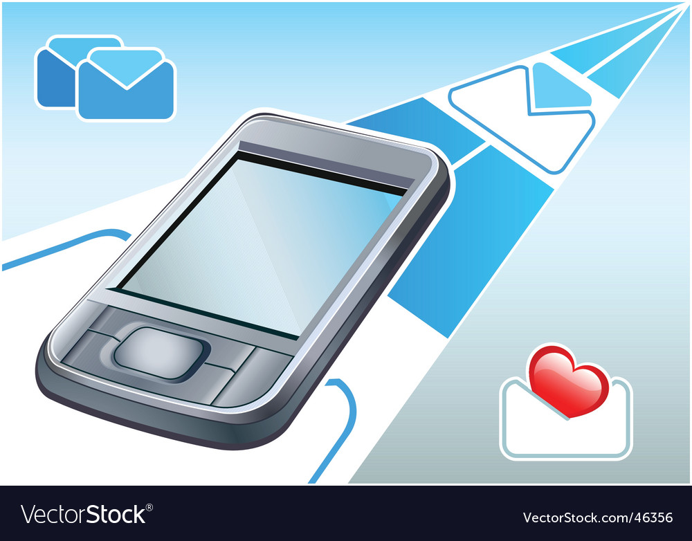 Pda  email device vector | Price: 1 Credit (USD $1)