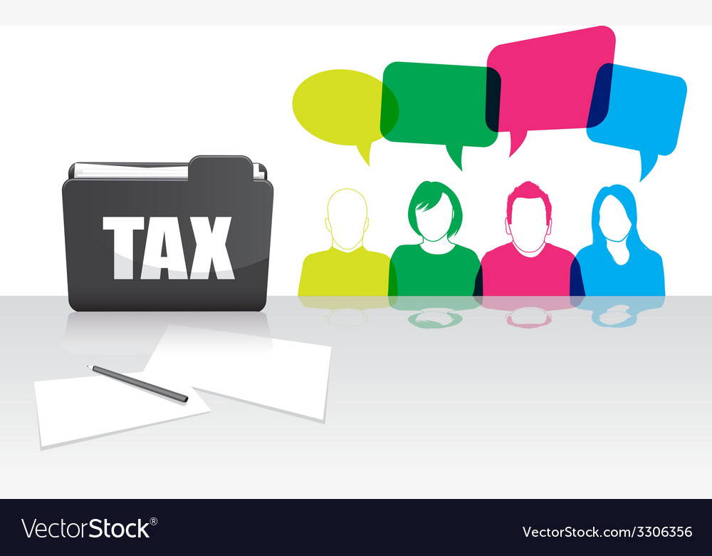 People tax folder vector | Price: 1 Credit (USD $1)