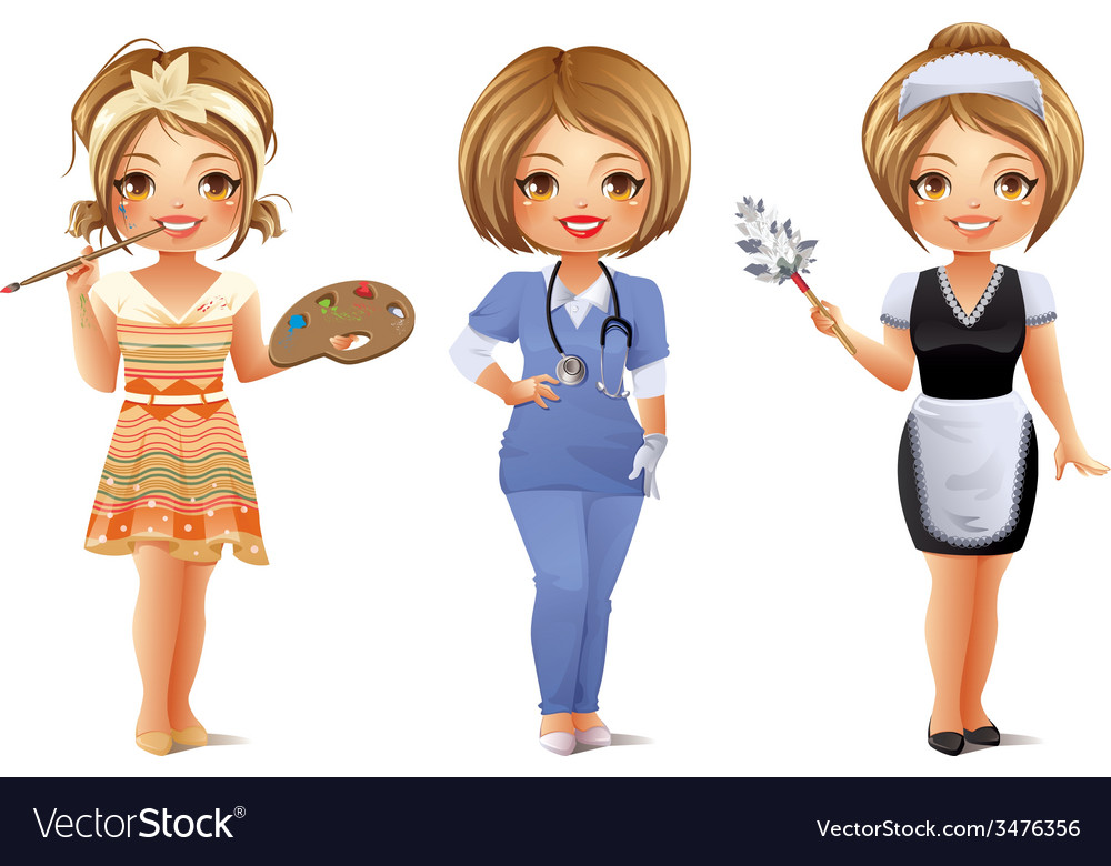 Professions set 3 vector | Price: 3 Credit (USD $3)