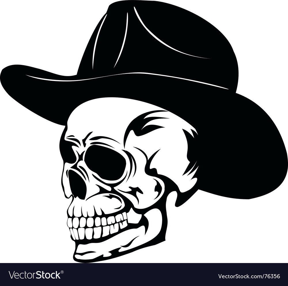 Skull in hat min vector | Price: 1 Credit (USD $1)