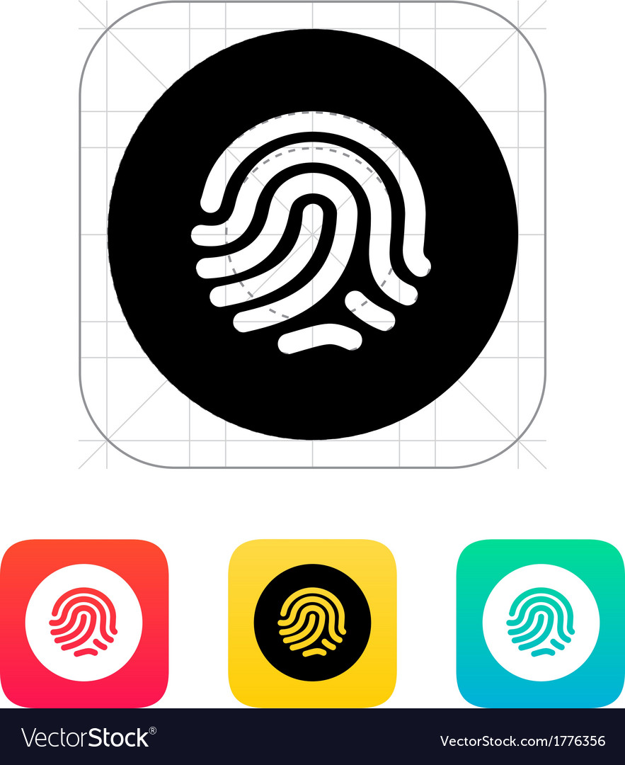 Thumbprint scanner icon vector | Price: 1 Credit (USD $1)