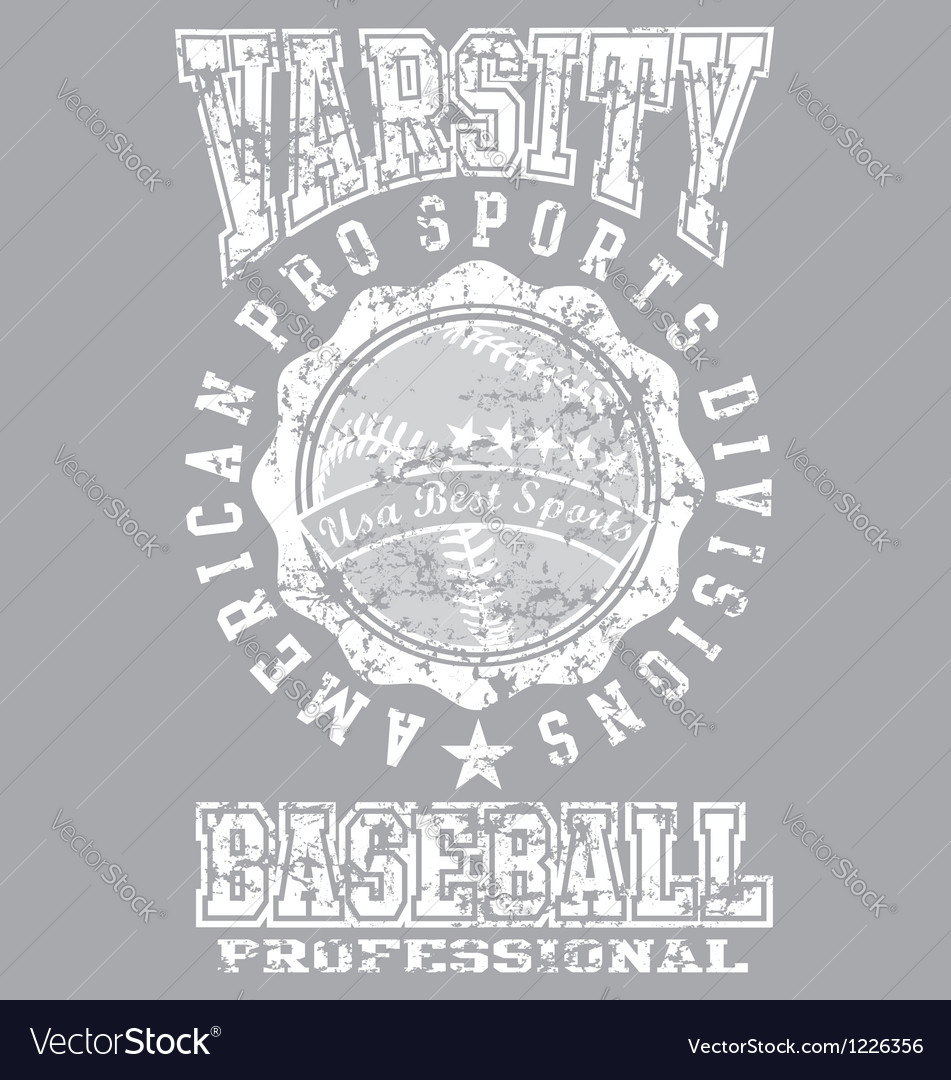 Varsity baseball vector | Price: 1 Credit (USD $1)