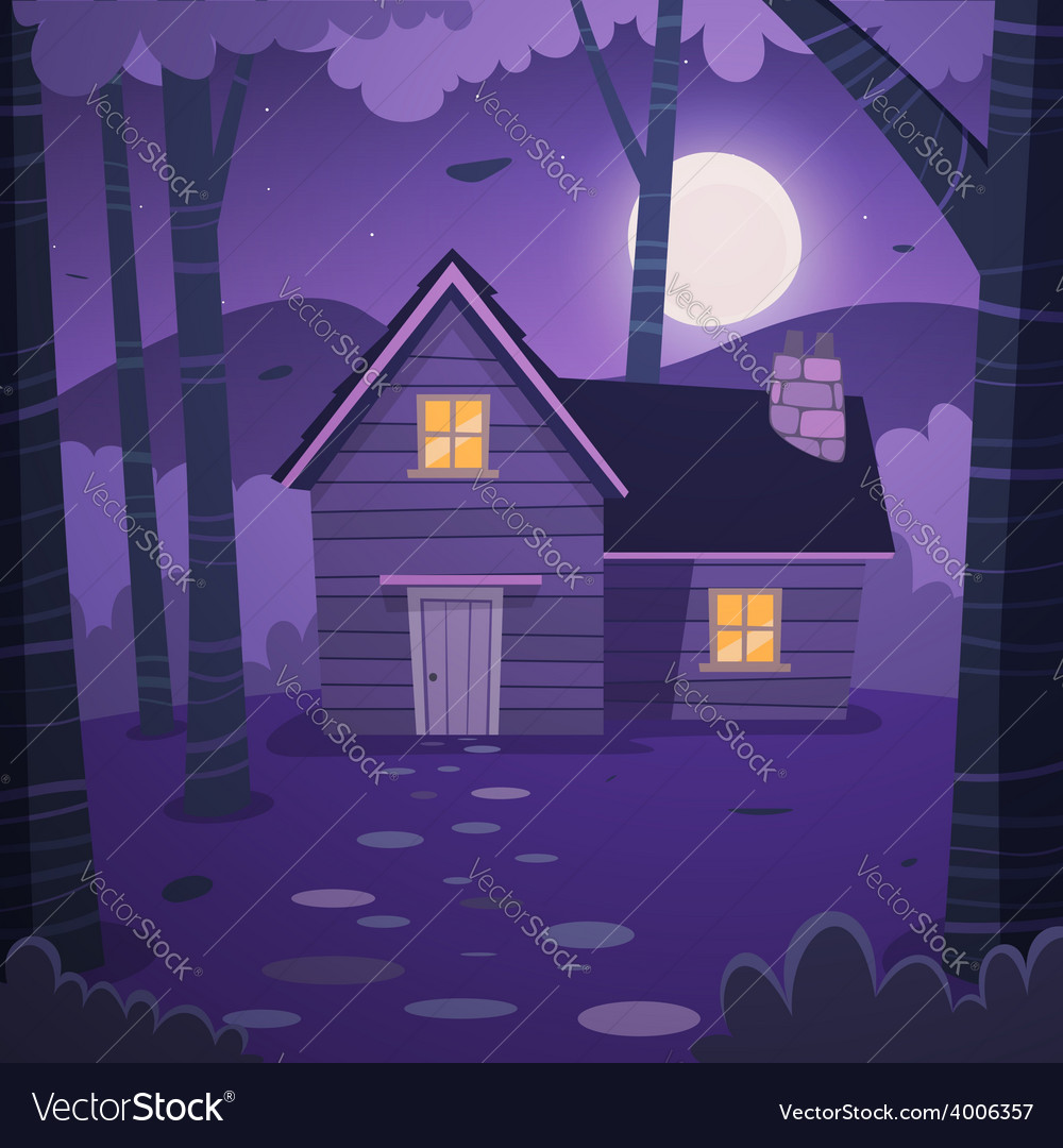 Cabin in woods vector | Price: 5 Credit (USD $5)