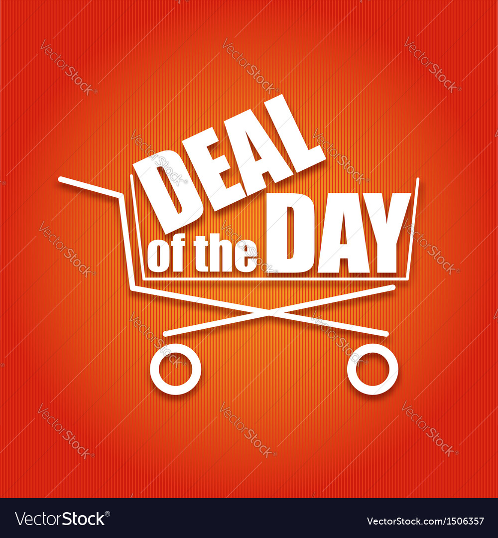 Deal of the day poster with a basket vector | Price: 1 Credit (USD $1)