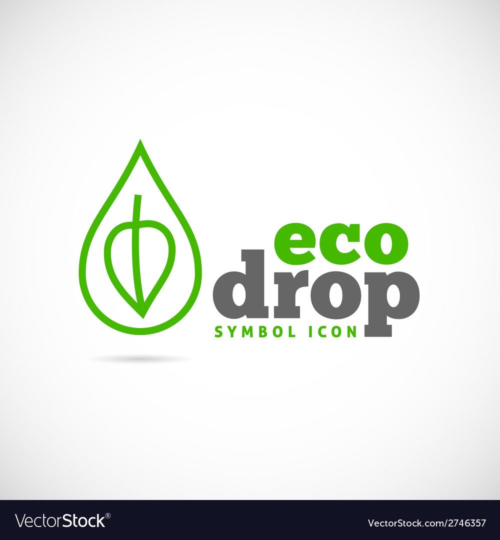 Eco drop concept symbol icon or logo template vector | Price: 1 Credit (USD $1)