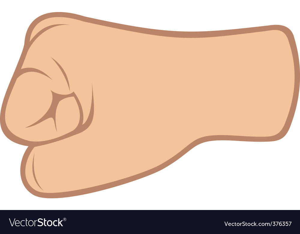 Fist isolated on white background vector | Price: 1 Credit (USD $1)