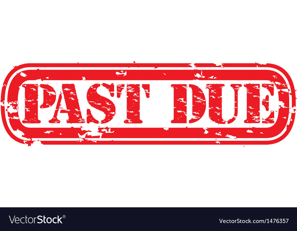 Past due stamp vector | Price: 1 Credit (USD $1)