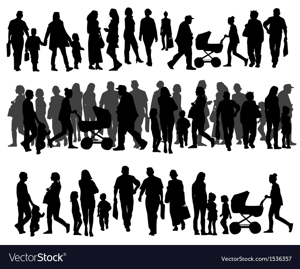People on the street vector | Price: 1 Credit (USD $1)