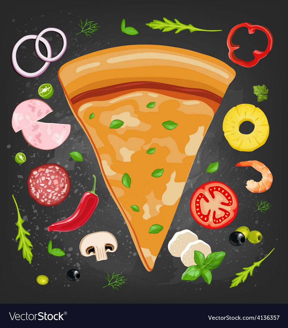 Pizza slice vector | Price: 1 Credit (USD $1)