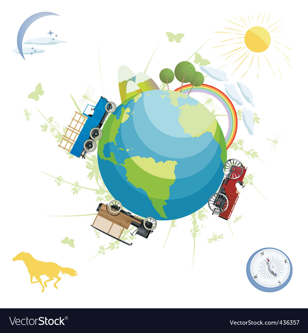 Planet earth vector | Price: 3 Credit (USD $3)