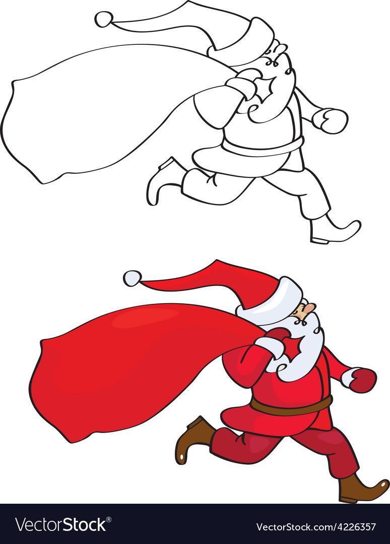 Santa bag vector | Price: 1 Credit (USD $1)