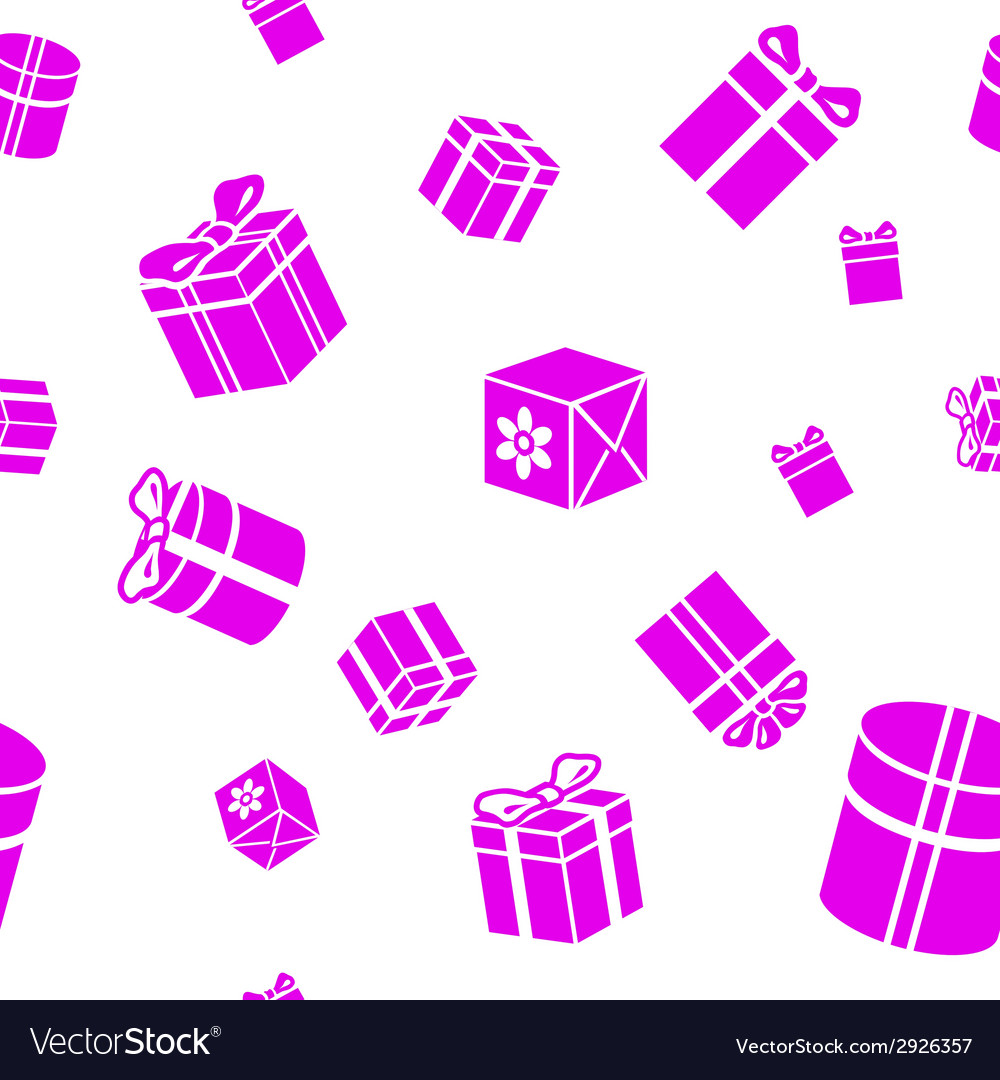 Seamless pattern with gift boxes vector | Price: 1 Credit (USD $1)