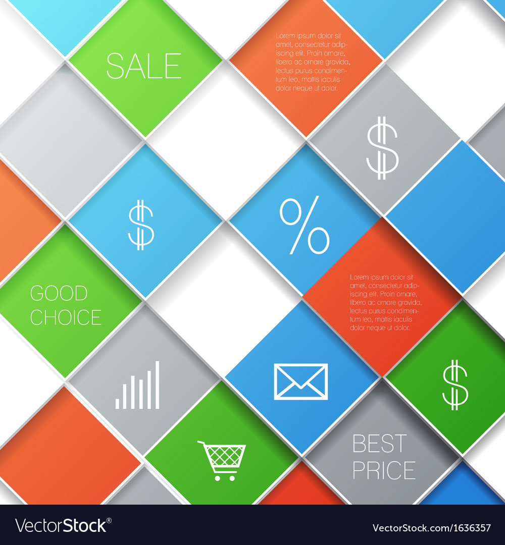 Squares template vector | Price: 1 Credit (USD $1)
