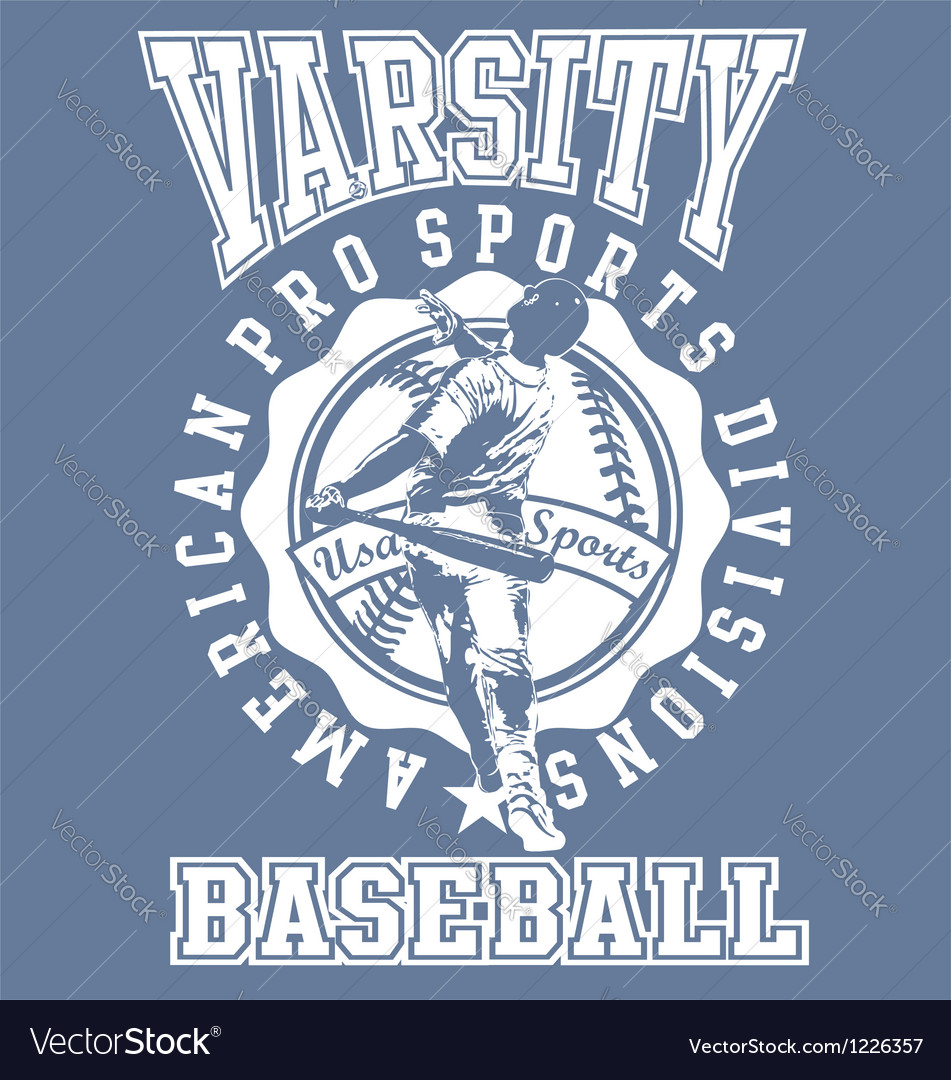 Varsity baseball sport vector | Price: 1 Credit (USD $1)
