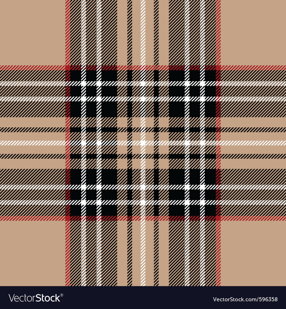 Classic beige tartan fabric vector | Price: 1 Credit (USD $1)