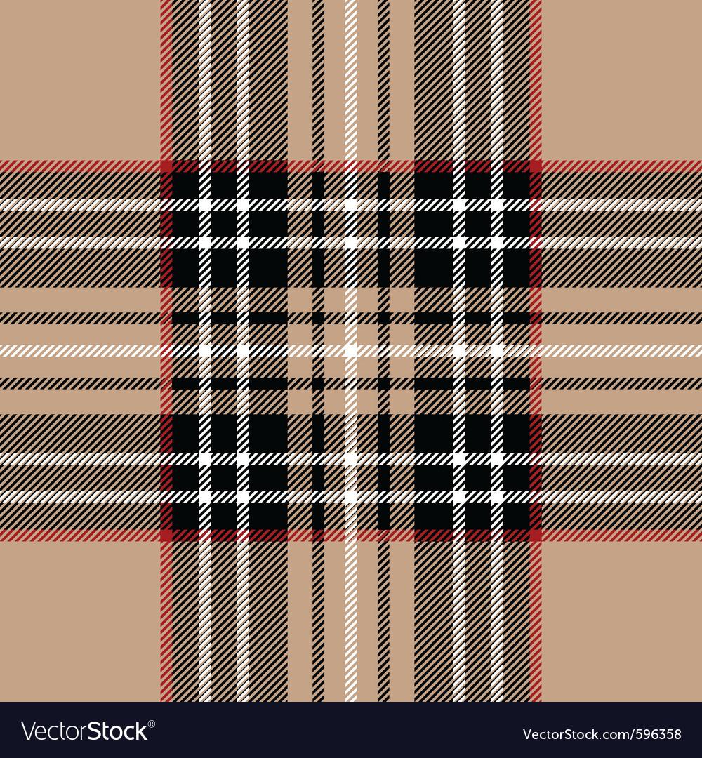 Classic beige tartan fabric vector | Price: 1 Credit (USD $1)