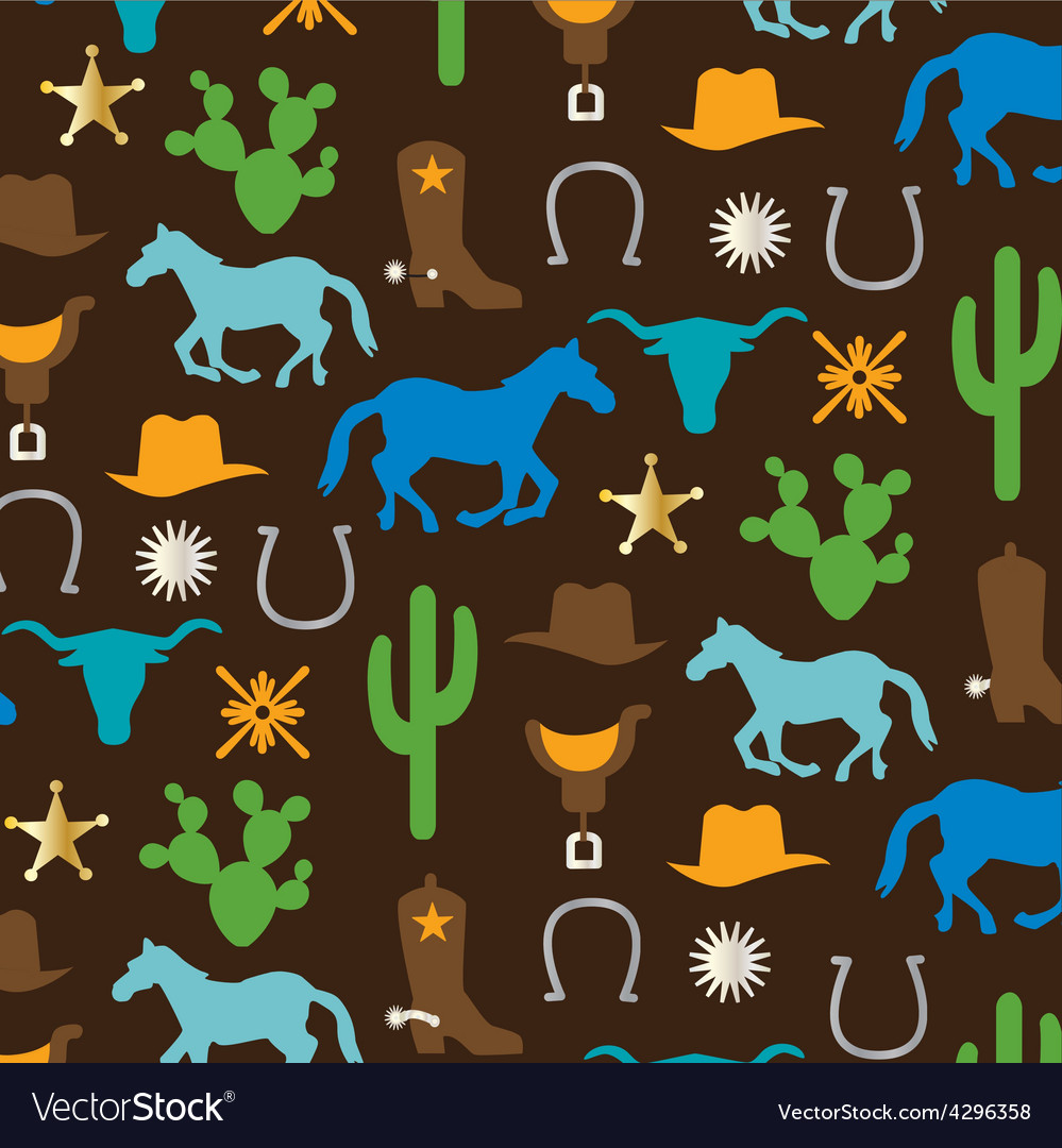 Cowboy pattern vector | Price: 1 Credit (USD $1)