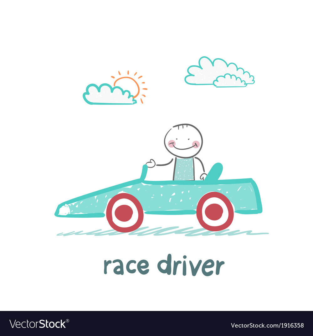 Driver rides in the car vector | Price: 1 Credit (USD $1)