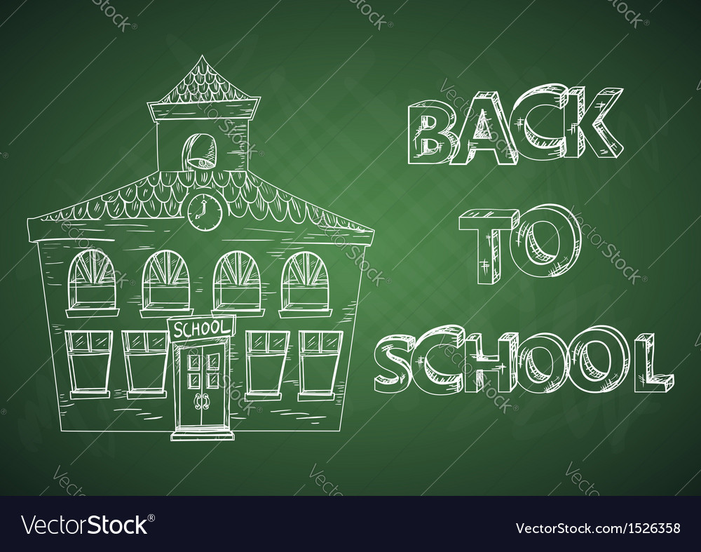 Education back to school house vector | Price: 1 Credit (USD $1)