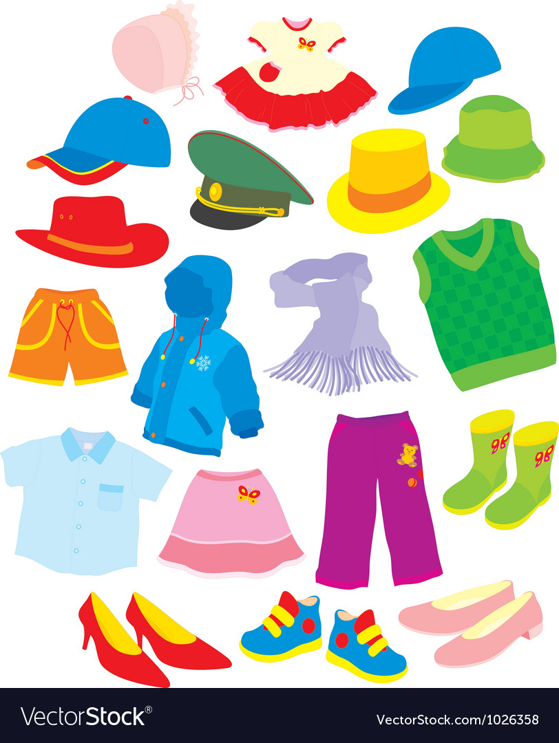 Footwear and clothes vector | Price: 1 Credit (USD $1)