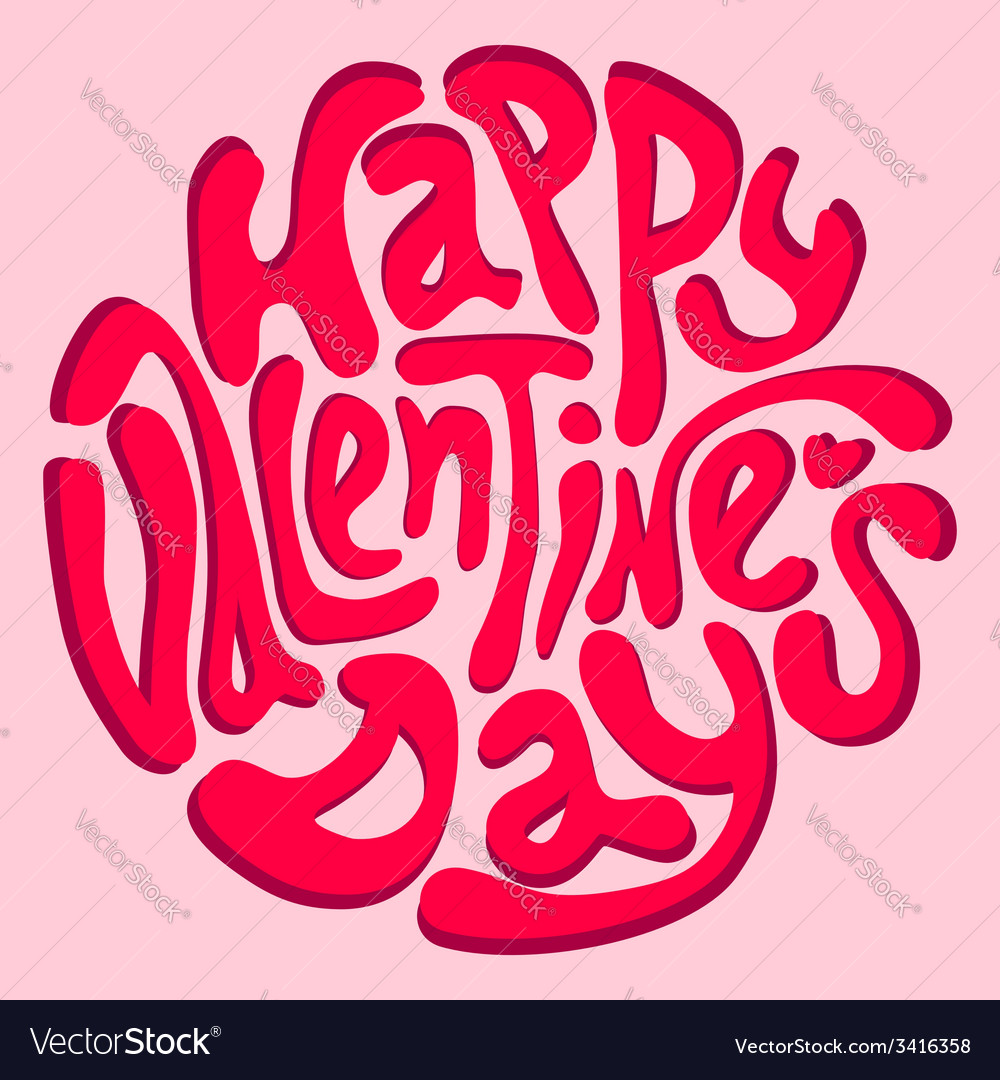 Happy valentines day inscription vector | Price: 1 Credit (USD $1)