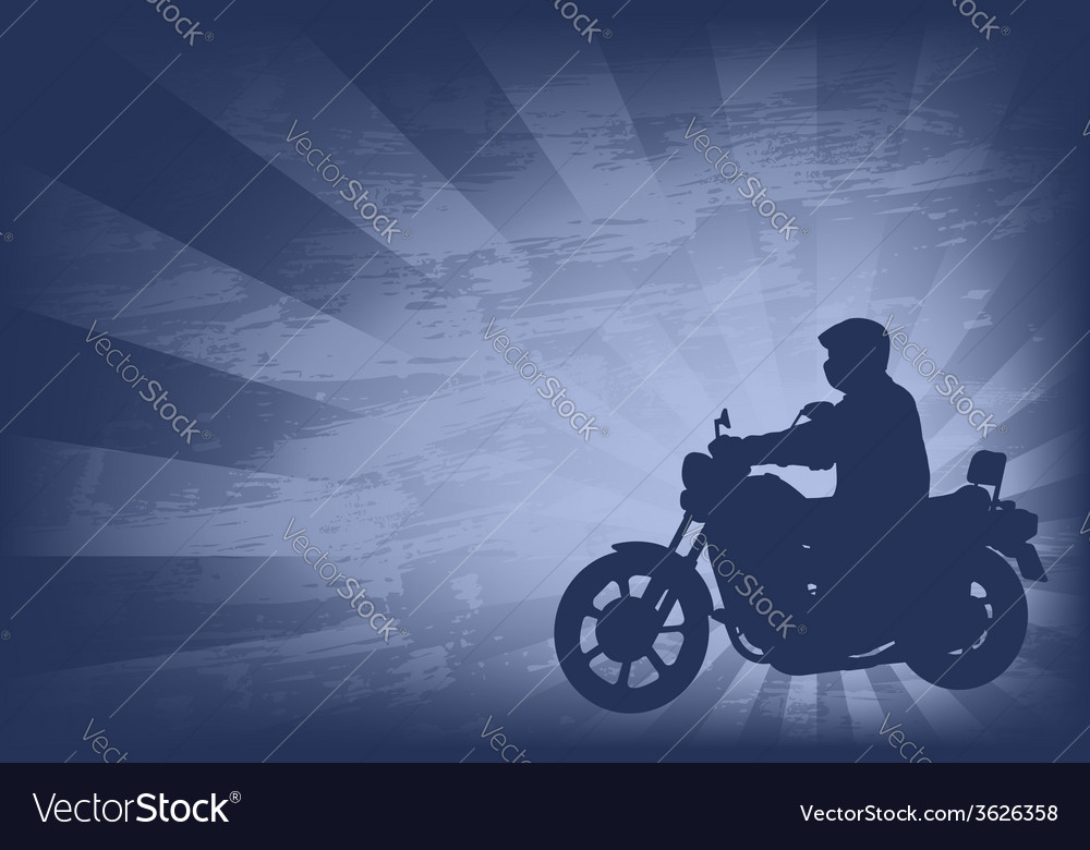 Motorcyclist background 2 vector | Price: 1 Credit (USD $1)