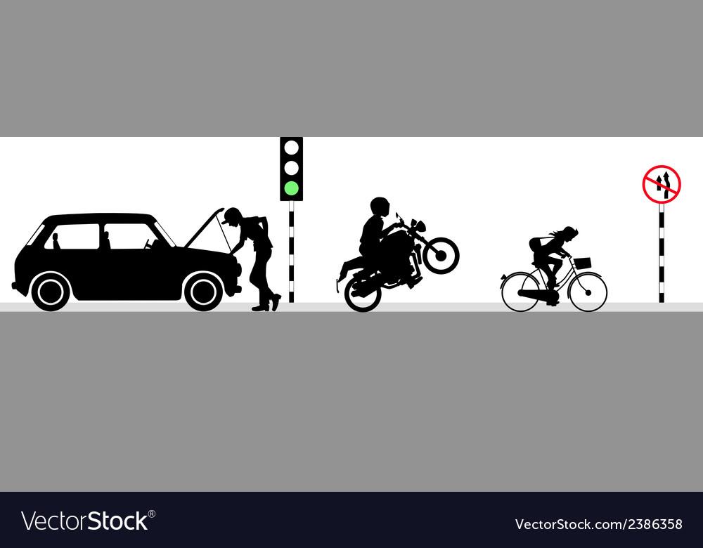 On green light vector | Price: 1 Credit (USD $1)