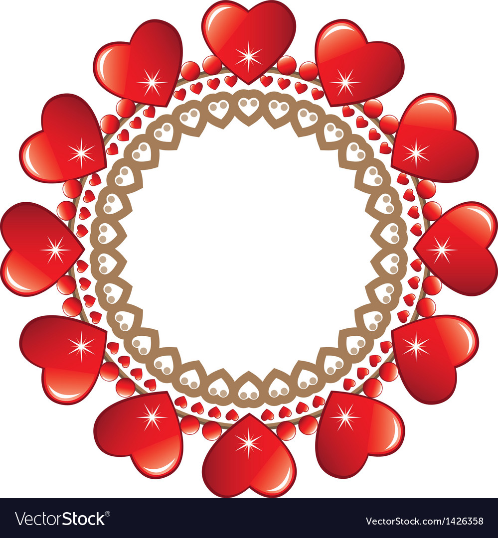 Round loveheart frame vector | Price: 1 Credit (USD $1)