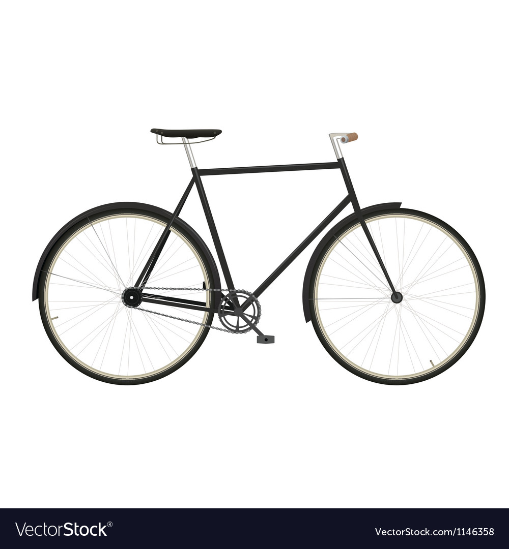 Vintage mens bicycle isolated on white background vector | Price: 1 Credit (USD $1)